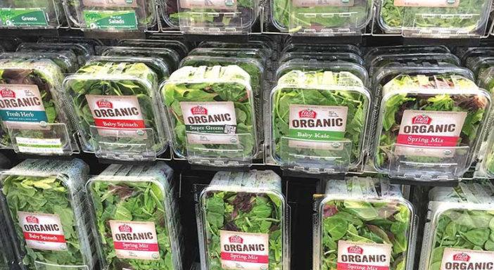 Le insalate in busta guidano la crescita del bio negli USA